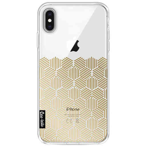 Casetastic Softcover Apple iPhone XS Max - Golden Hexagons