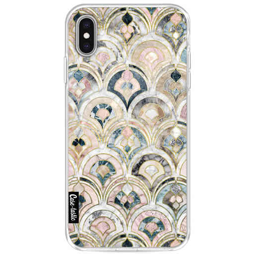 Casetastic Softcover Apple iPhone XS Max - Art Deco Marble Tiles