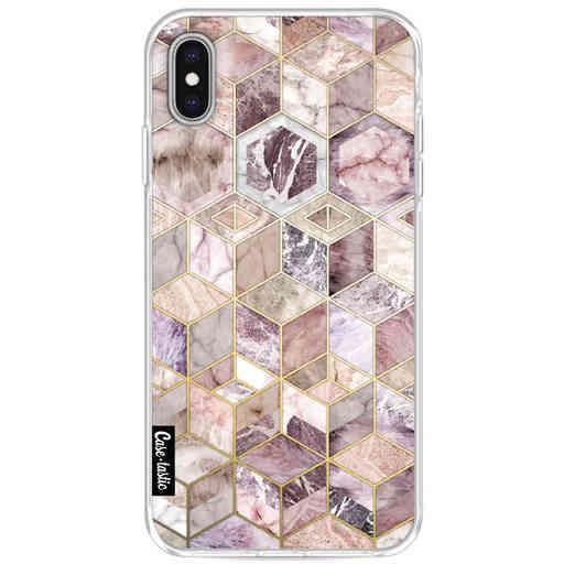 Casetastic Softcover Apple iPhone XS Max - Blush Quartz Honeycomb