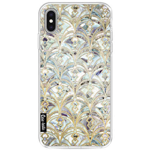 Casetastic Softcover Apple iPhone XS Max - Mint Art Deco Marbling