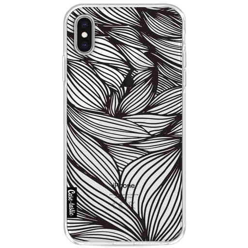 Casetastic Softcover Apple iPhone XS Max - Wavy Outlines Black
