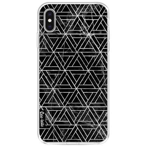 Casetastic Softcover Apple iPhone XS Max - Abstract Marble Triangles