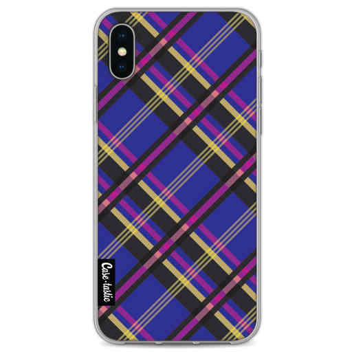 Casetastic Softcover Apple iPhone X / XS - Purple Tartan