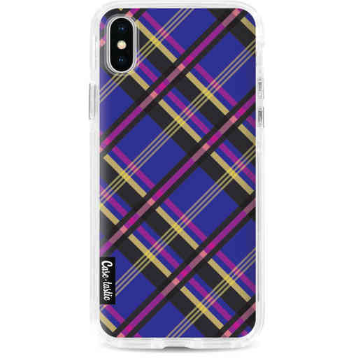 Casetastic Dual Snap Case Apple iPhone X / XS - Purple Tartan