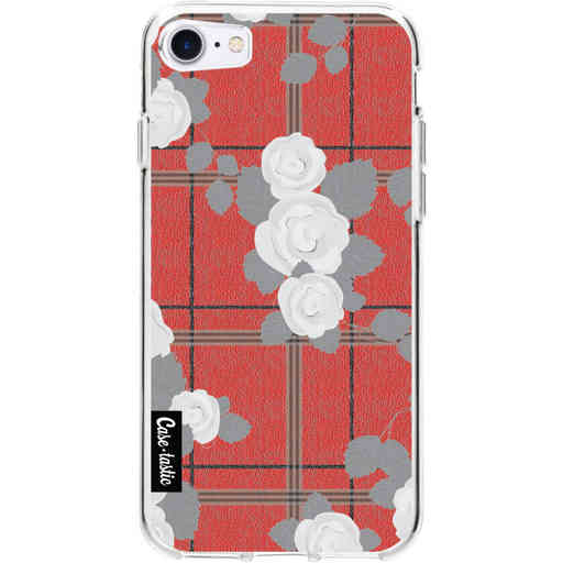 Casetastic Softcover Apple iPhone 7 / 8 / SE (2020) - Flower Tartan Red