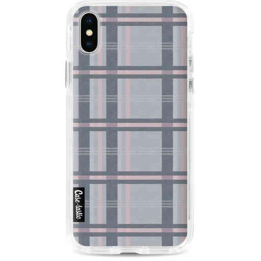 Casetastic Dual Snap Case Apple iPhone X / XS - Grey Tartan