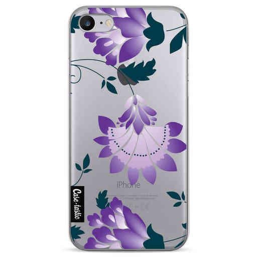 Casetastic Softcover Apple iPhone 7 / 8 / SE (2020) - Purple Dahlia Flower