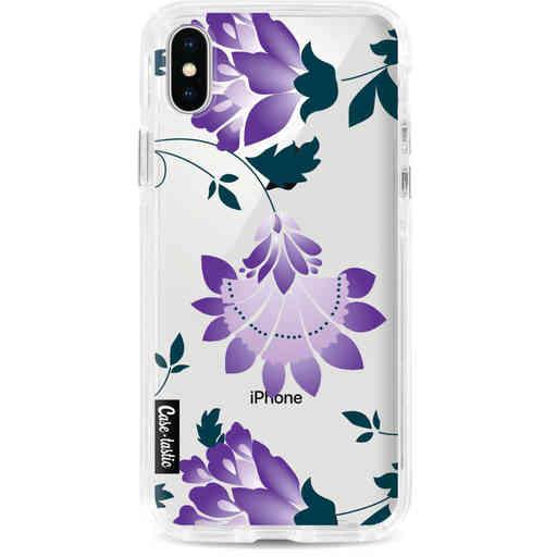 Casetastic Dual Snap Case Apple iPhone X / XS - Purple Dahlia Flower