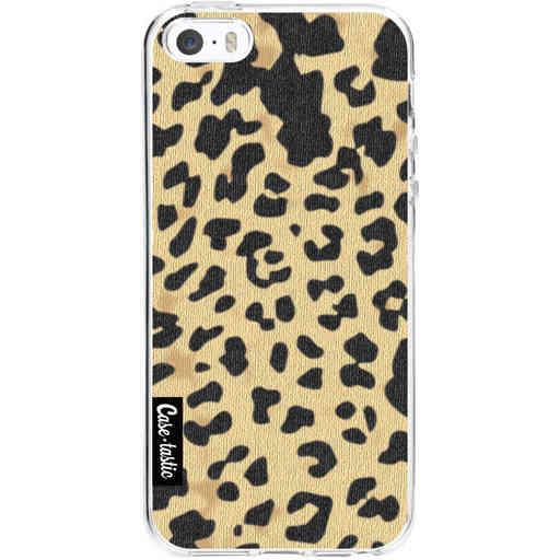 Casetastic Softcover Apple iPhone 5 / 5s / SE - Leopard Print Sand