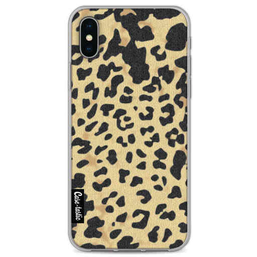 Casetastic Softcover Apple iPhone X / XS - Leopard Print Sand