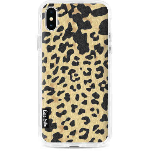 Casetastic Dual Snap Case Apple iPhone X / XS - Leopard Print Sand
