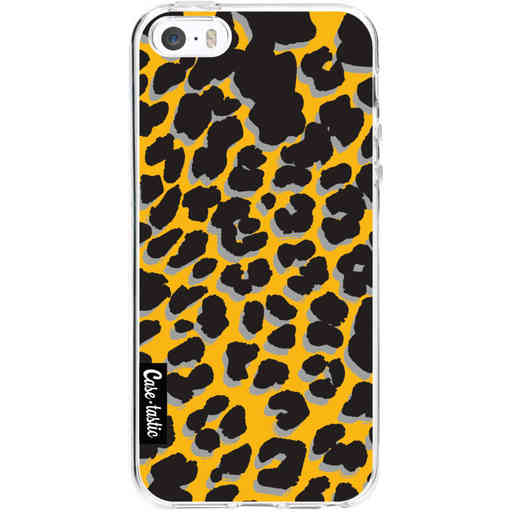 Casetastic Softcover Apple iPhone 5 / 5s / SE - Leopard Print Yellow