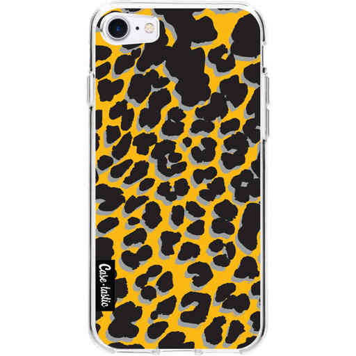 Casetastic Softcover Apple iPhone 7 / 8 / SE (2020) - Leopard Print Yellow
