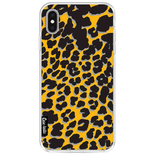 Casetastic Softcover Apple iPhone XS Max - Leopard Print Yellow