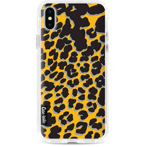 Casetastic Dual Snap Case Apple iPhone X / XS - Leopard Print Yellow