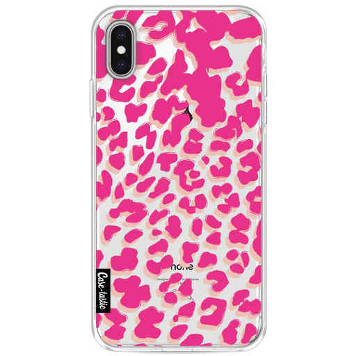 Casetastic Softcover Apple iPhone XS Max - Leopard Print Pink