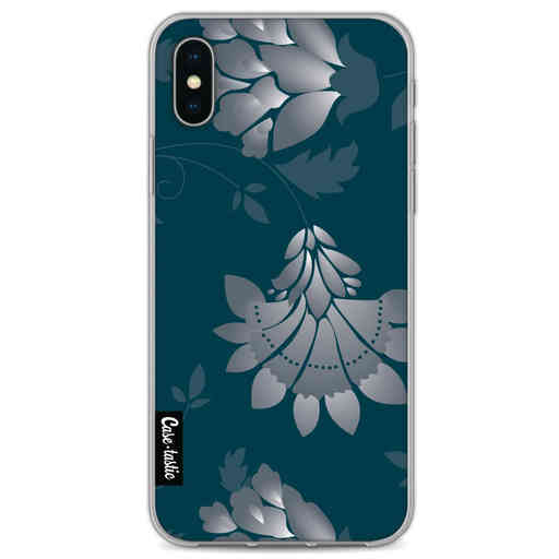 Casetastic Softcover Apple iPhone X / XS - Grey Dahlia Flower