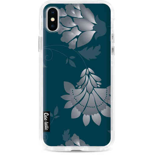Casetastic Dual Snap Case Apple iPhone X / XS - Grey Dahlia Flower