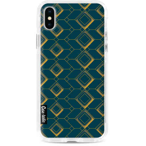 Casetastic Dual Snap Case Apple iPhone X / XS - Abstract Cubes