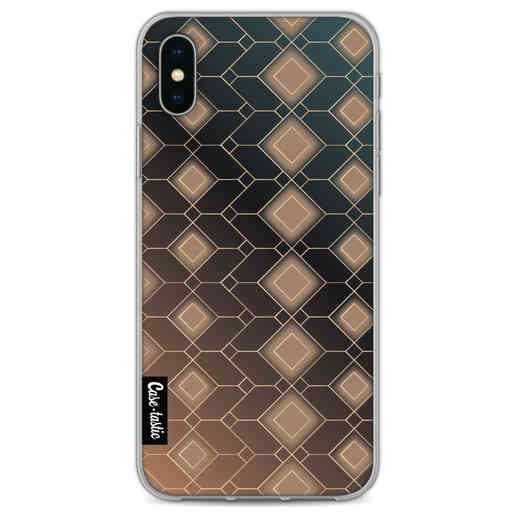 Casetastic Softcover Apple iPhone X / XS - Abstract Diamonds