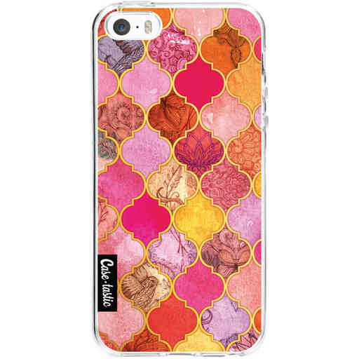 Casetastic Softcover Apple iPhone 5 / 5s / SE - Pink Moroccan Tiles