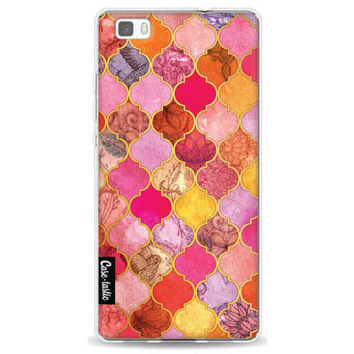 Casetastic Softcover Huawei P8 Lite (2015) - Pink Moroccan Tiles