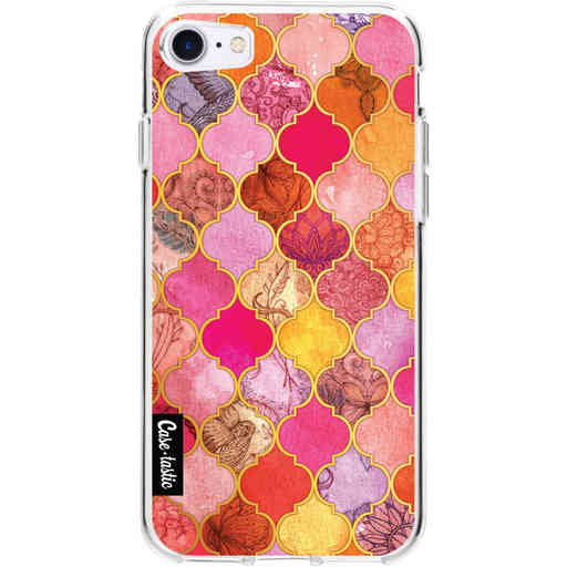 Casetastic Softcover Apple iPhone 7 / 8 / SE (2020) - Pink Moroccan Tiles