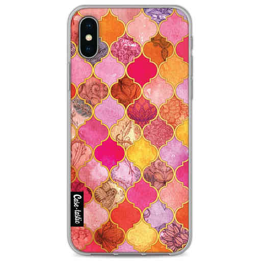 Casetastic Softcover Apple iPhone X / XS - Pink Moroccan Tiles