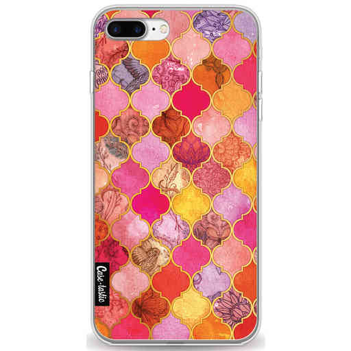 Casetastic Softcover Apple iPhone 7 Plus / 8 Plus - Pink Moroccan Tiles