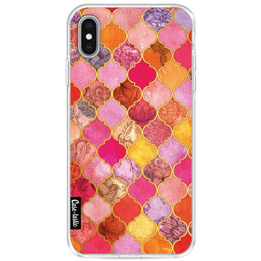 Casetastic Softcover Apple iPhone XS Max - Pink Moroccan Tiles
