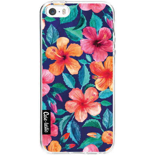 Casetastic Softcover Apple iPhone 5 / 5s / SE - Colorful Hibiscus