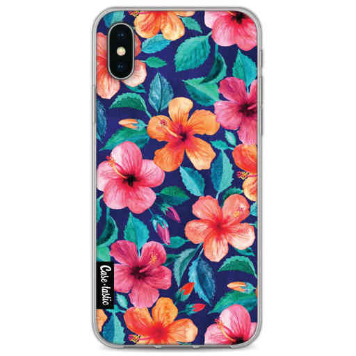 Casetastic Softcover Apple iPhone X / XS - Colorful Hibiscus
