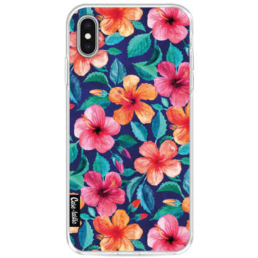 Casetastic Softcover Apple iPhone XS Max - Colorful Hibiscus