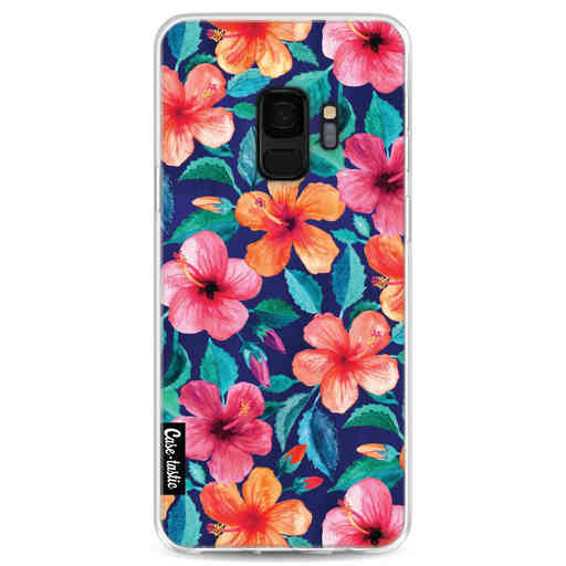 Casetastic Softcover Samsung Galaxy S9 - Colorful Hibiscus