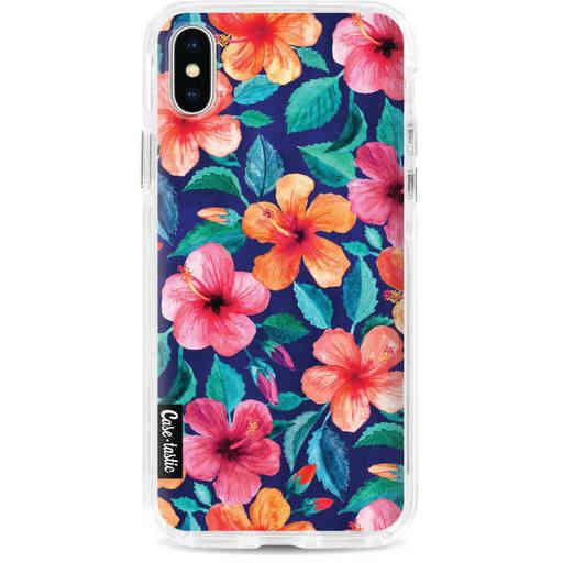 Casetastic Dual Snap Case Apple iPhone X / XS - Colorful Hibiscus