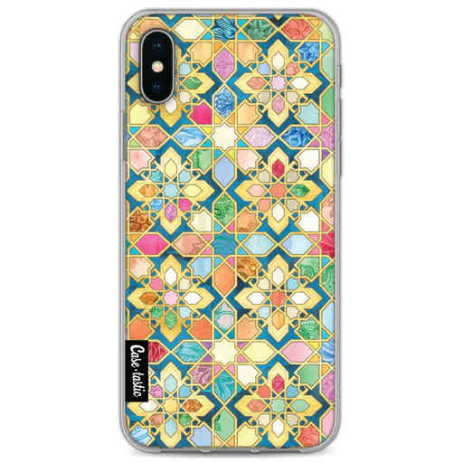 Casetastic Softcover Apple iPhone X / XS - Gilded Moroccan Mosaic Tiles