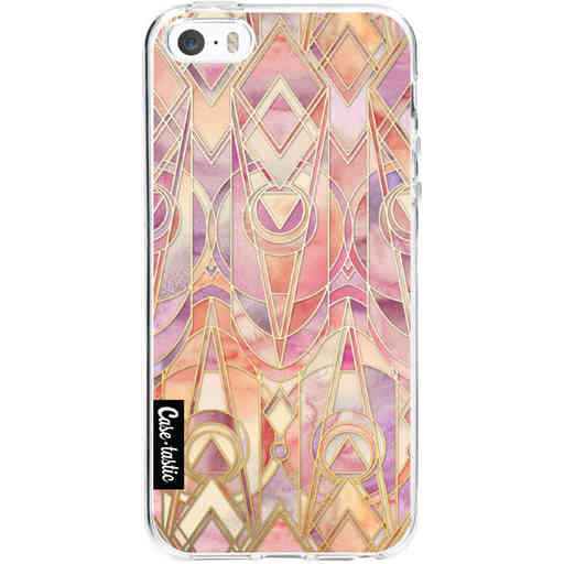 Casetastic Softcover Apple iPhone 5 / 5s / SE - Coral and Amethyst Art