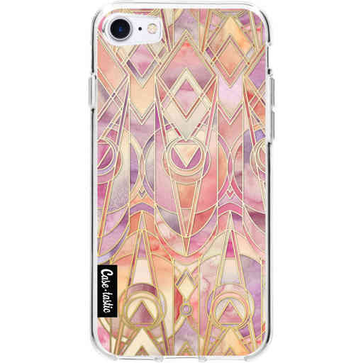 Casetastic Softcover Apple iPhone 7 / 8 / SE (2020) - Coral and Amethyst Art