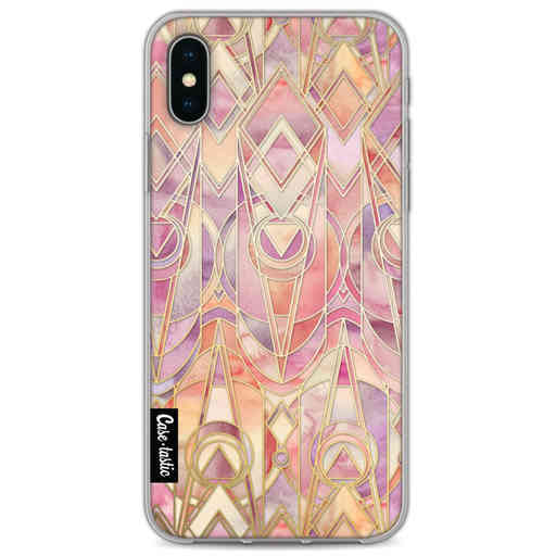 Casetastic Softcover Apple iPhone X / XS - Coral and Amethyst Art