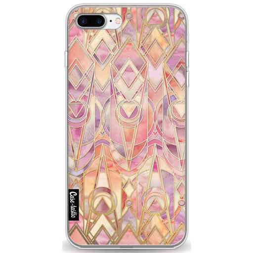 Casetastic Softcover Apple iPhone 7 Plus / 8 Plus - Coral and Amethyst Art