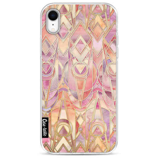 Casetastic Softcover Apple iPhone XR - Coral and Amethyst Art