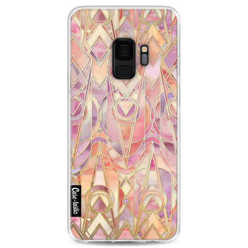 Casetastic Softcover Samsung Galaxy S9 - Coral and Amethyst Art