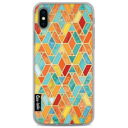 Casetastic Softcover Apple iPhone X / XS - Geometric Tile Pattern