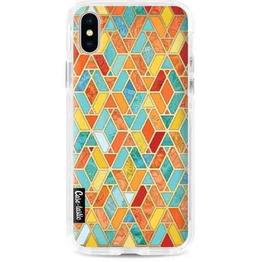 Casetastic Dual Snap Case Apple iPhone X / XS - Geometric Tile Pattern