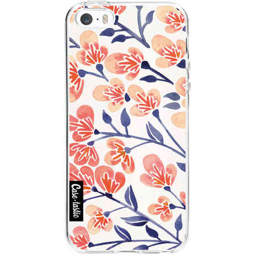 Casetastic Softcover Apple iPhone 5 / 5s / SE - Cherry Blossoms Peach