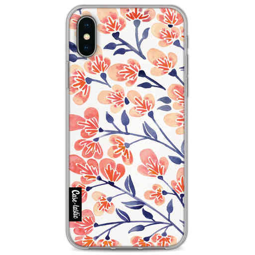 Casetastic Softcover Apple iPhone X / XS - Cherry Blossoms Peach