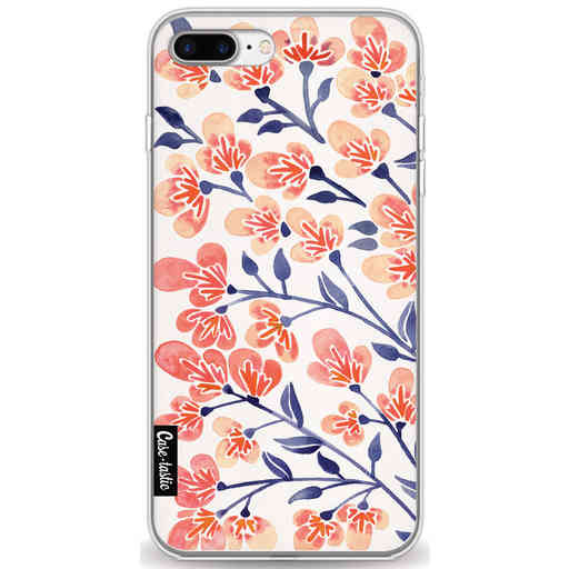 Casetastic Softcover Apple iPhone 7 Plus / 8 Plus - Cherry Blossoms Peach