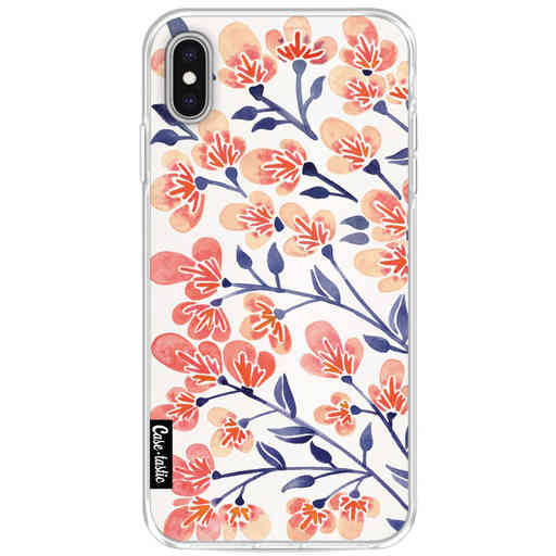 Casetastic Softcover Apple iPhone XS Max - Cherry Blossoms Peach