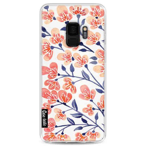 Casetastic Softcover Samsung Galaxy S9 - Cherry Blossoms Peach