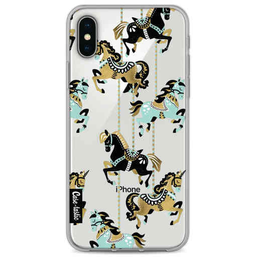 Casetastic Softcover Apple iPhone X / XS - Carousel Horses